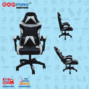Distributor Jual Gaming Chair Kursi Gaming SAPPORO NORWICH - Black & White (1)