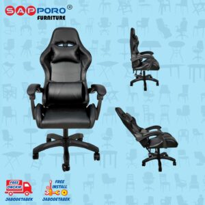 Distributor Jual Gaming Chair Kursi Gaming SAPPORO NORWICH - Double Black (1)