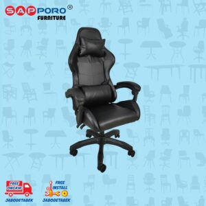 Distributor Jual Gaming Chair Kursi Gaming SAPPORO NORWICH - Double Black (2)