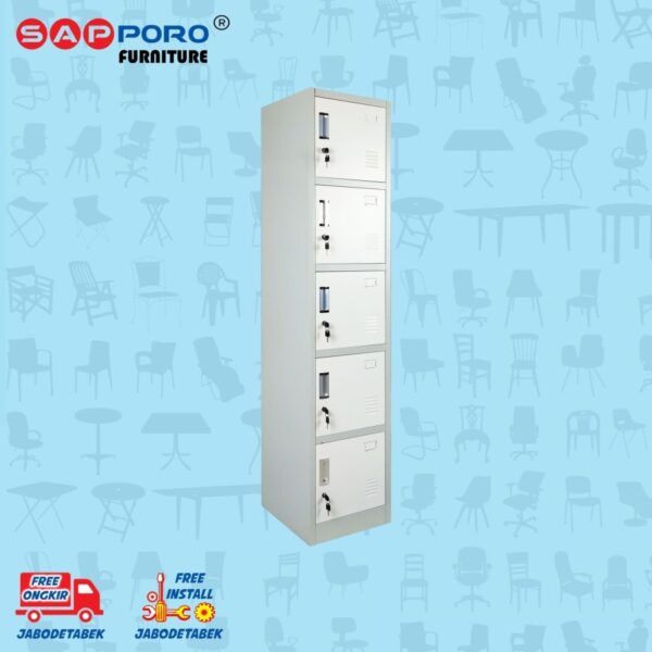 Distributor Jual Locker Besi Loker Besi 5 Pintu SAPPORO KOLN 5 - Light Traffic (1)