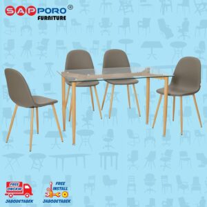 Distributor Jual Dining Set Meja Makan Set Sapporo SAP DS-1009 - Grey (1)