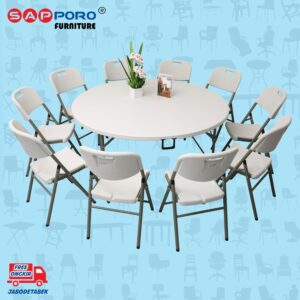 Distributor Jual Dining Set SAPPORO PAMUKALE - Granite White (1)
