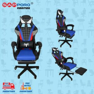 Distributor Jual Gaming Chair Kursi Gaming Karakter SAPPORO KENT - Black (1)