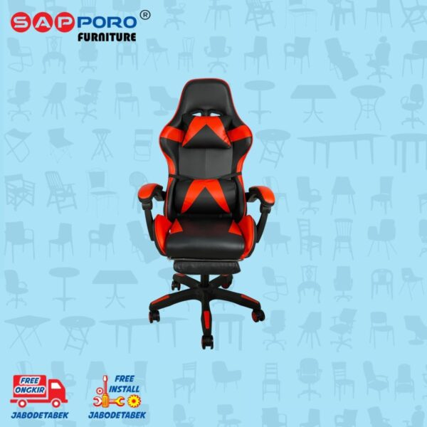 Distributor Jual Gaming Chair Kursi Gaming SAPPORO THANET - Red (1)