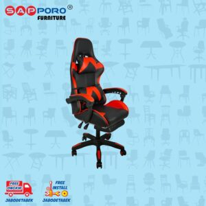 Distributor Jual Gaming Chair Kursi Gaming SAPPORO THANET - Red (2)