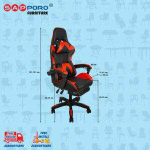 Distributor Jual Gaming Chair Kursi Gaming SAPPORO THANET - Red (4)