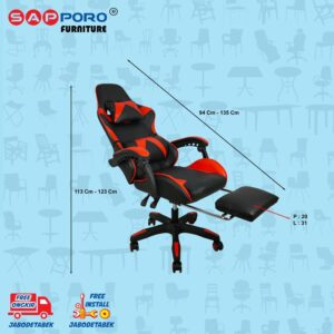 Distributor Jual Gaming Chair Kursi Gaming SAPPORO THANET - Red (5)