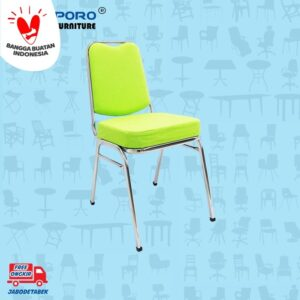Distributor Jual Kursi Susun Sapporo KS 33 Chrome ( Light Green - Fabric ) (1)