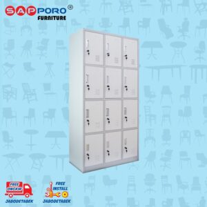Distributor Jual Locker Besi Loker Besi 12 Pintu SAPPORO KOLN 12 - Light Traffic (1)