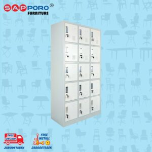 Distributor Jual Locker Besi Loker Besi 15 Pintu SAPPORO KOLN 15 - Light Traffic (1)