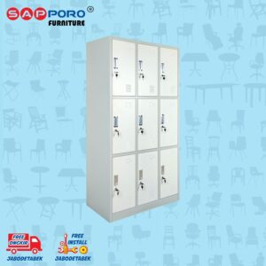 Distributor Jual Locker Besi Loker Besi 9 Pintu SAPPORO KOLN 9 - Light Traffic (1)
