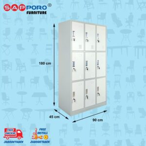 Distributor Jual Locker Besi Loker Besi 9 Pintu SAPPORO KOLN 9 - Light Traffic (2)