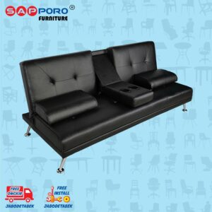 Distributor Jual Sofa Bed SAPPORO EDMONTON - Black 1