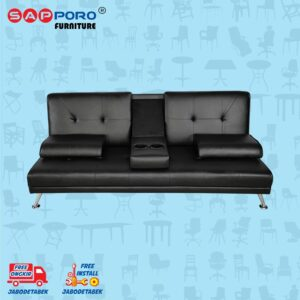 Distributor Jual Sofa Bed SAPPORO EDMONTON - Black 2