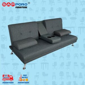 Distributor Jual Sofa Bed SAPPORO EDMONTON - Dark Grey 1