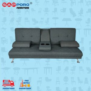 Distributor Jual Sofa Bed SAPPORO EDMONTON - Dark Grey 2