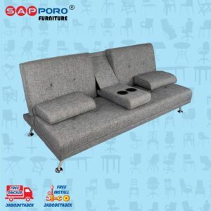 Distributor Jual Sofa Bed SAPPORO EDMONTON - Grey 1