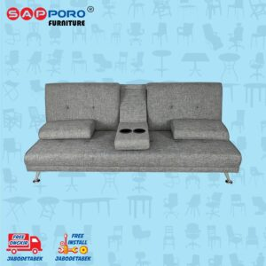 Distributor Jual Sofa Bed SAPPORO EDMONTON - Grey 2