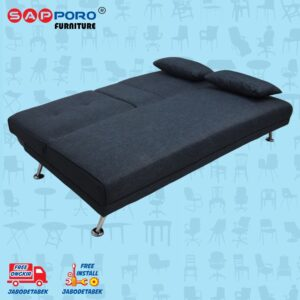 Distributor Jual Sofa Bed SAPPORO HAMILTON - Blue Fabric 2