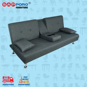 Distributor Jual Sofa Bed SAPPORO HAMILTON - Dark Grey 1
