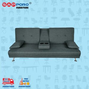 Distributor Jual Sofa Bed SAPPORO HAMILTON - Dark Grey 2