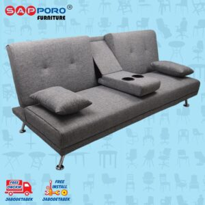 Distributor Jual Sofa Bed SAPPORO HAMILTON - Grey Fabric 1