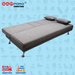 Distributor Jual Sofa Bed SAPPORO HAMILTON - Grey Fabric 2