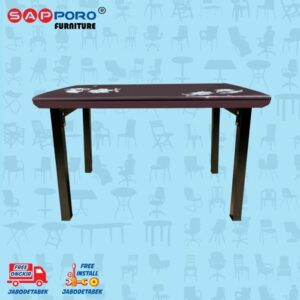 Distributor Jual Dining Set Meja Makan Set SAPPORO PERTH - Brown 2