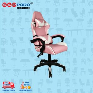 Distributor Jual Gaming Chair Kursi Gaming SAPPORO NORWICH - Pink White 1