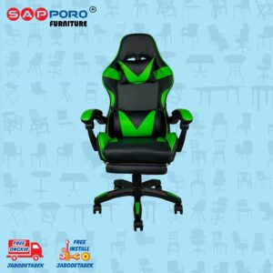 Distributor Jual Gaming Chair Kursi Gaming SAPPORO THANET - Green 2
