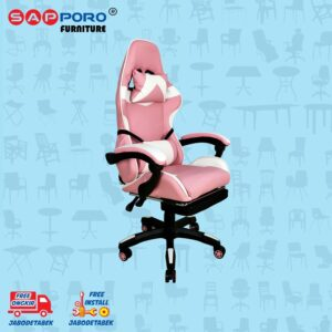 Distributor Jual Gaming Chair Kursi Gaming SAPPORO THANET - Pink & White 1