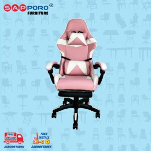 Distributor Jual Gaming Chair Kursi Gaming SAPPORO THANET - Pink & White 2