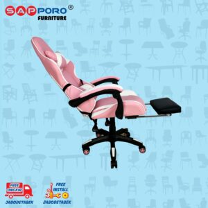 Distributor Jual Gaming Chair Kursi Gaming SAPPORO THANET - Pink & White 3