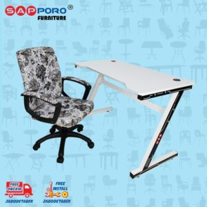 Distributor Jual MEJA BELAJAR SET MEJA LAPTOP SET SAPPORO MORIN - Alpha & White 1