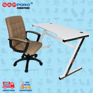 Distributor Jual MEJA BELAJAR SET MEJA LAPTOP SET SAPPORO MORIN - Epsilon & White 1